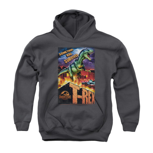 Image for Jurassic Park Youth Hoodie - Rex in the City