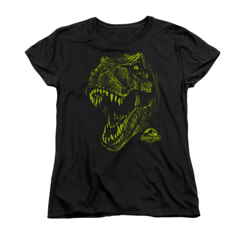 Image for Jurassic Park Woman's T-Shirt - Rex Mount