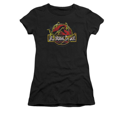 Image for Jurassic Park Girls T-Shirt - Something Has Survived