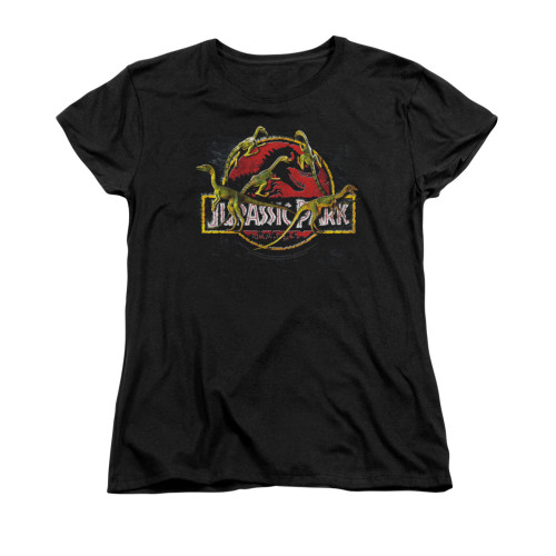 Image for Jurassic Park Woman's T-Shirt - Something Has Survived