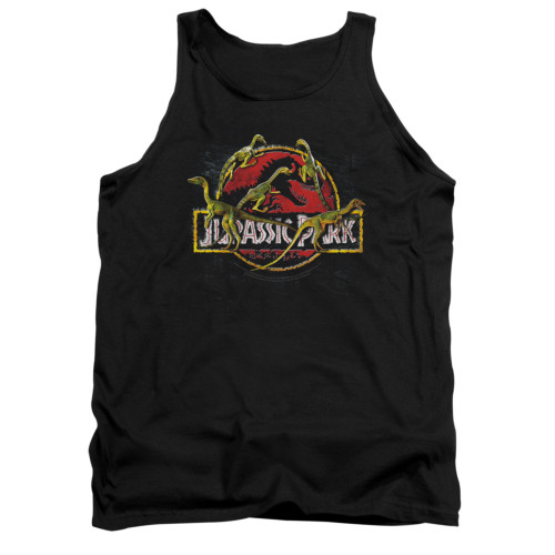 Image for Jurassic Park Tank Top - Something Has Survived