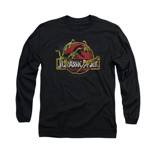Image for Jurassic Park Long Sleeve T-Shirt - Something Has Survived