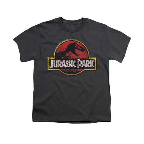 Image for Jurassic Park Youth T-Shirt - Stone Logo