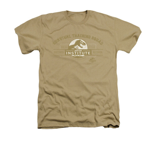 Image for Jurassic Park Heather T-Shirt - Survival Training Squad