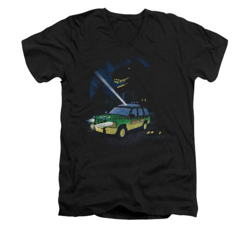 Image for Jurassic Park V-Neck T-Shirt - Turn it Off