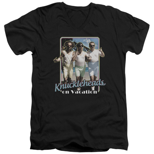 Image for The Three Stooges V-Neck T-Shirt Knucklesheads on Vacation