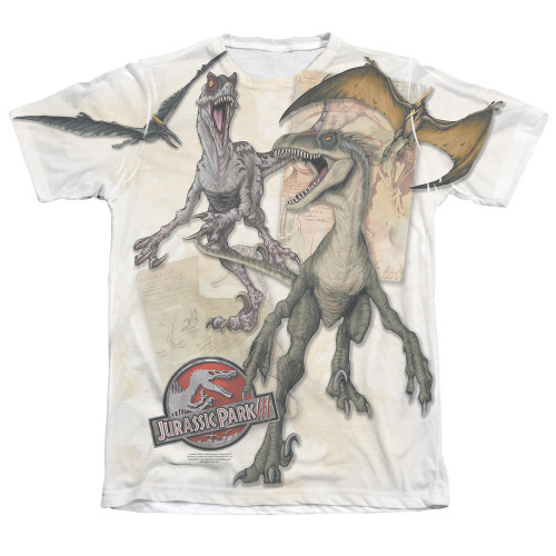 Image Closeup for Jurassic Park Sublimated T-Shirt - Dino Drawings