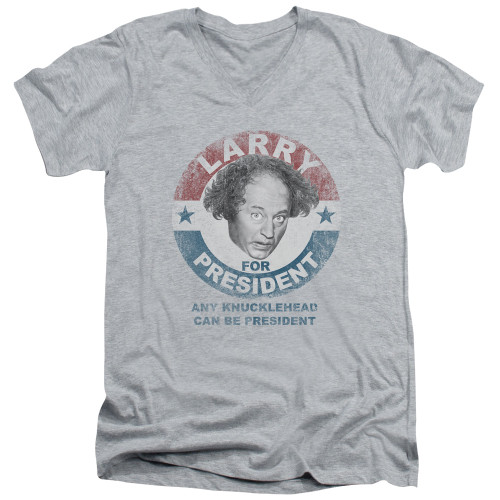 Image for The Three Stooges V-Neck T-Shirt Larry For President
