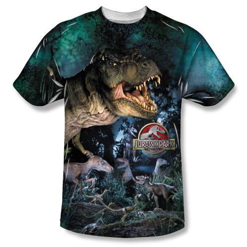 Image for Jurassic Park Sublimated T-Shirt - Dinos Gather 100% Polyester