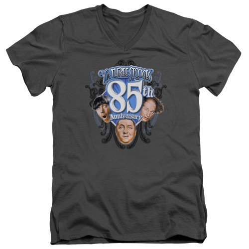 Image for The Three Stooges V-Neck T-Shirt 85th Anniversary 2