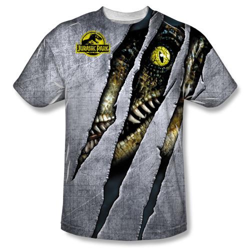 Jurassic Park Sublimated T-Shirt - Live Raptor 100% Polyester