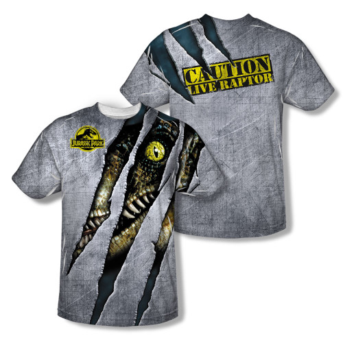 Image Closeup for Jurassic Park Sublimated Youth T-Shirt - Live Raptor