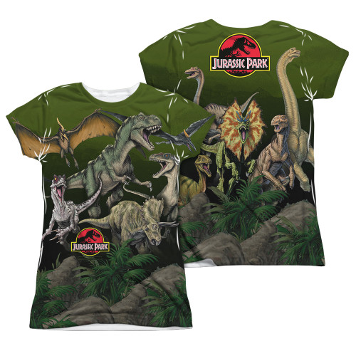 Image Closeup for Jurassic Park Girls Sublimated T-Shirt - Pack of Dinos