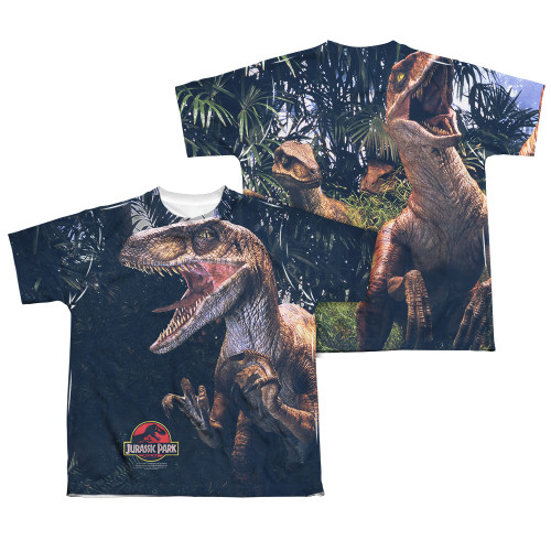 Image Closeup for Jurassic Park Sublimated Youth T-Shirt - Raptors