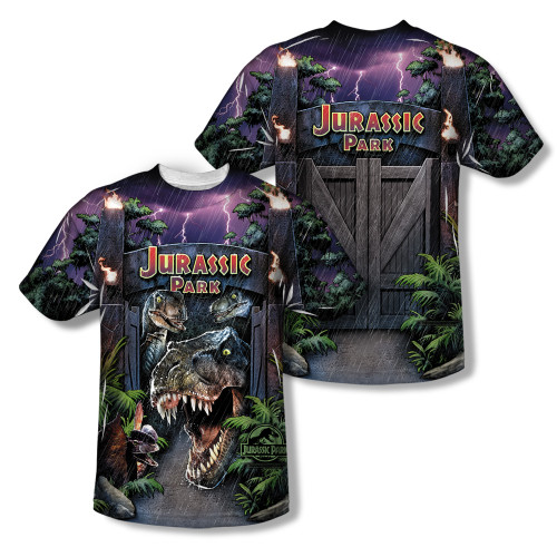 Image Closeup for Jurassic Park Sublimated T-Shirt - Welcome to the Park