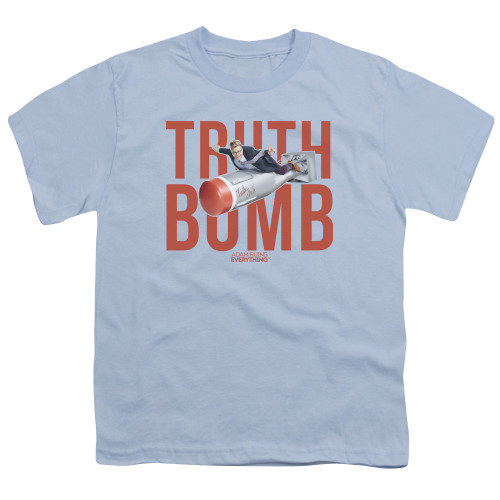 Image for Adam Ruins Everything Youth T-Shirt - Truth Bomb on Blue