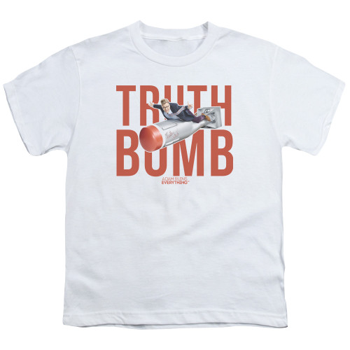 Image for Adam Ruins Everything Youth T-Shirt - Truth Bomb on White