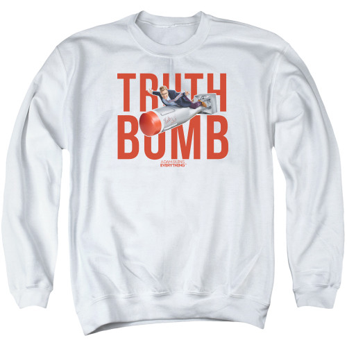 Image for Adam Ruins Everything Crewneck - Truth Bomb on White