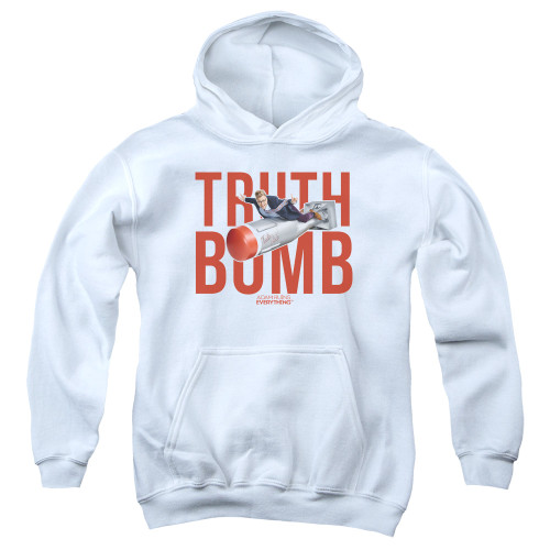 Image for Adam Ruins Everything Youth Hoodie - Truth Bomb on White