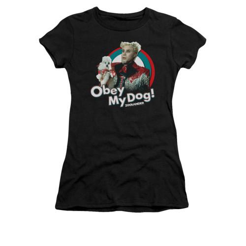 Image for Zoolander Girls T-Shirt - Obey My Dog