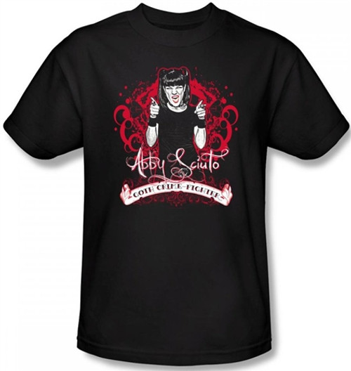 Image Closeup for NCIS Goth Crime Fighter T-Shirt