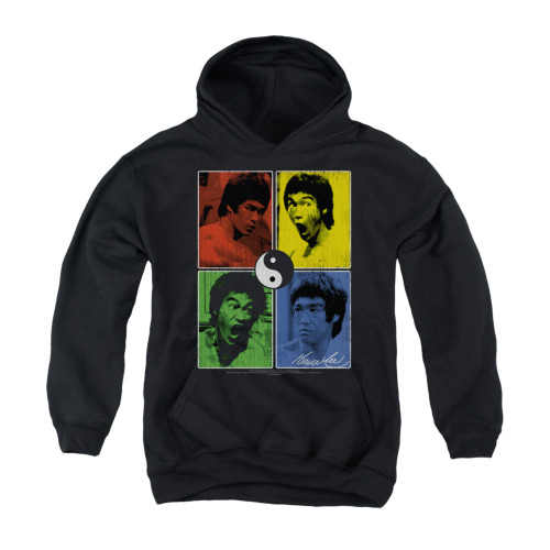 Image for Bruce Lee Youth Hoodie - Color Black