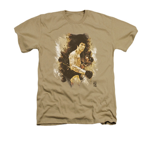 Image for Bruce Lee Heather T-Shirt - Intensity