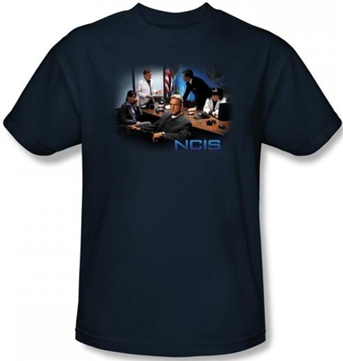 Image Closeup for NCIS Original Cast T-Shirt
