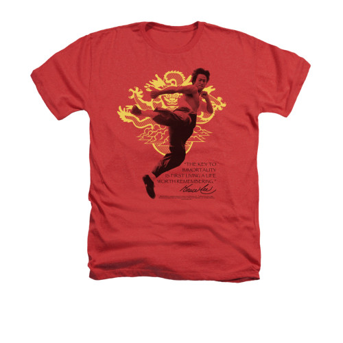 Image for Bruce Lee Heather T-Shirt - Immortal Dragon