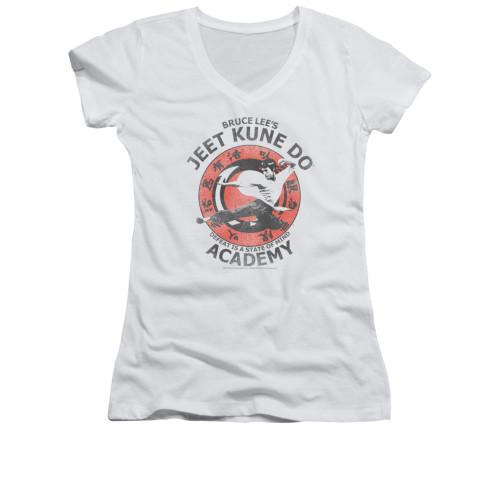 Image for Bruce Lee Girls V Neck T-Shirt - Jeet Kune