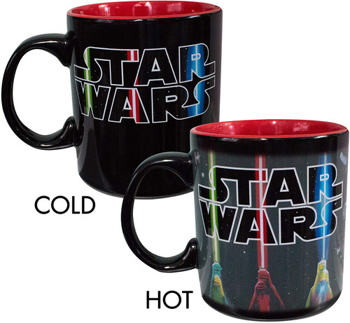 Image for Star Wars Lightsaber Logo Heat Transforming Coffee Mug