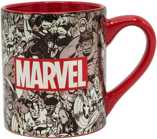 Image for Marvel Comics Black and White Logo Coffee Mug