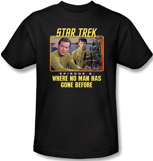 Image Closeup for Star Trek T-Shirt - Where No Man Has Gone Before