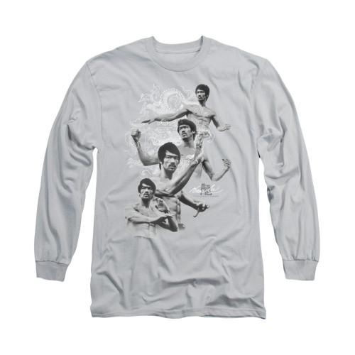 Image for Bruce Lee Long Sleeve T-Shirt - In Motion