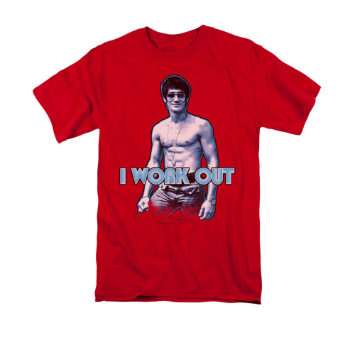 Image for Bruce Lee T-Shirt - Lee Works Out