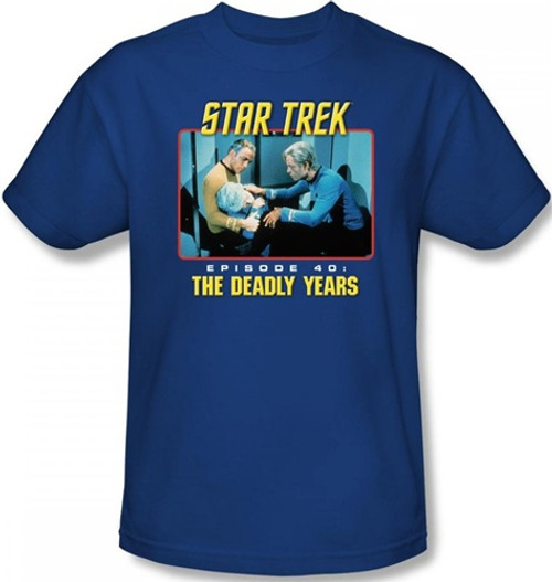 Image Closeup for Star Trek Episode T-Shirt - Episode 40 The Deadly Years