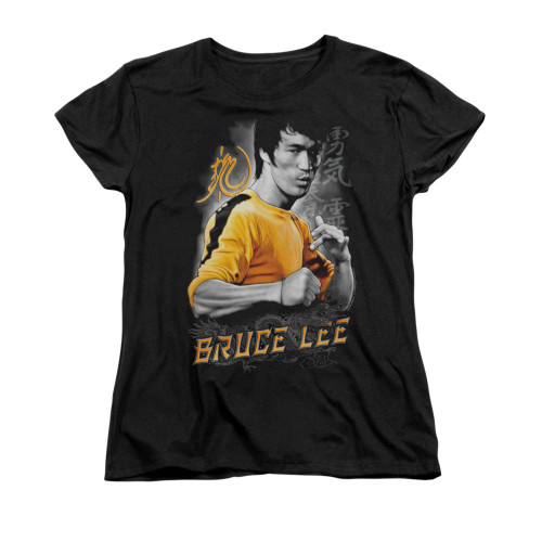 Image for Bruce Lee Woman's T-Shirt - Yellow Dragon