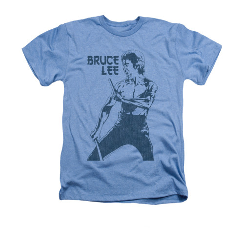 Image for Bruce Lee Heather T-Shirt - Fighter