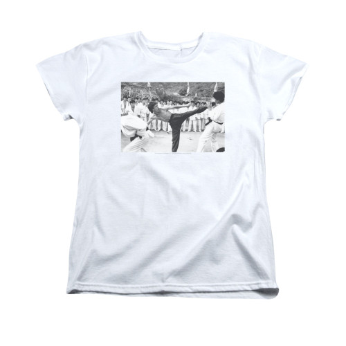 Image for Bruce Lee Woman's T-Shirt - Kick to the Head