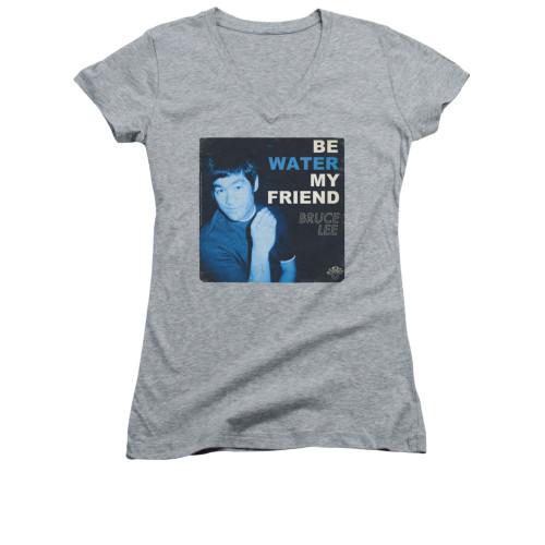Image for Bruce Lee Girls V Neck T-Shirt - Water