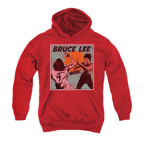 Image for Bruce Lee Youth Hoodie - Comic Panel