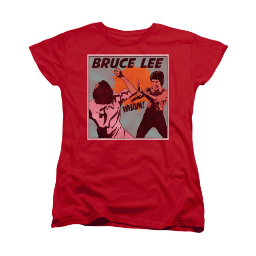 Image for Bruce Lee Woman's T-Shirt - Comic Panel