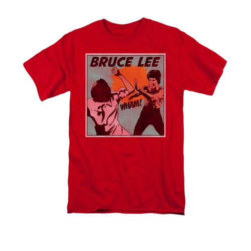Bruce Lee FURY Fists Attack Licensed Adult Long Sleeve T-Shirt S-3XL