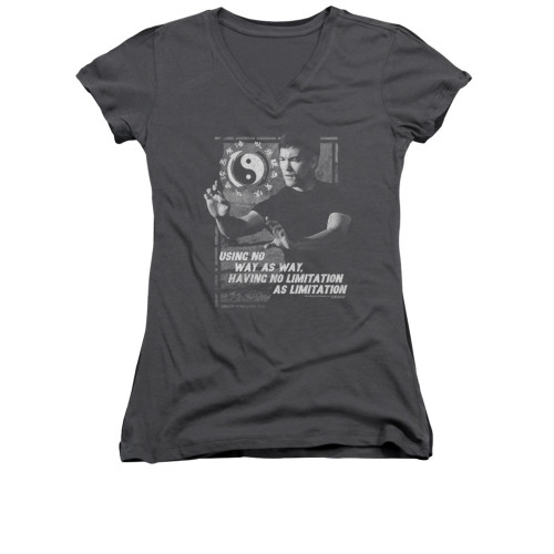 Image for Bruce Lee Girls V Neck T-Shirt - No Way as a Way