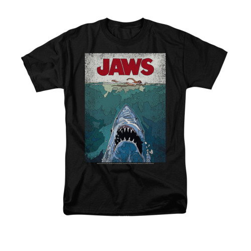 Image for Jaws T-Shirt - Lined Poster