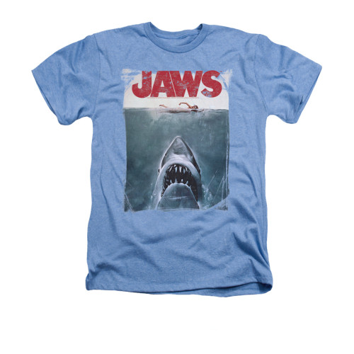 Jaws Heather T-Shirt - Title