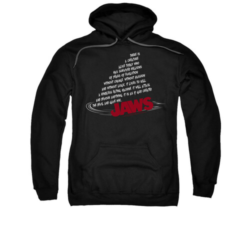 Image for Jaws Hoodie - Dorsal Text