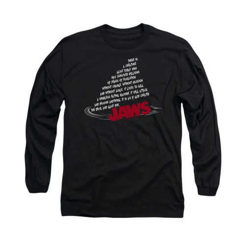 Image for Jaws Long Sleeve T-Shirt - Dorsal Text
