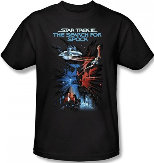 Image Closeup for Star Trek Movie T-Shirt - III the Search for Spock