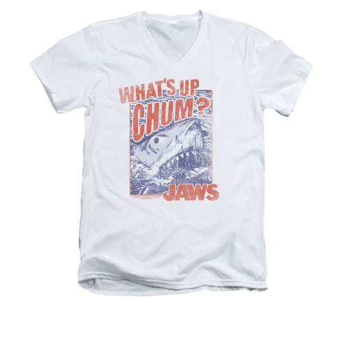 Image for Jaws V-Neck T-Shirt - Chum